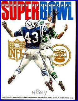 Super Bowl III 3 Program NY Jets v Baltimore Colts Namath MVP Ex/MT++/NMT 52314
