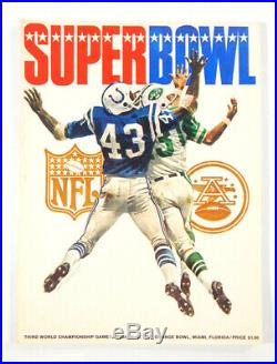 Super Bowl III Game Program Jets vs. Colts 3rd Program 1st to use Super Bowl