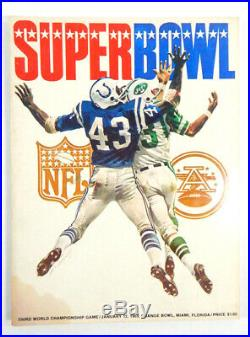 Super Bowl III Game Program Jets vs. Colts 3rd Program Has a stain on cover