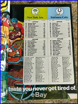 Super Bowl III Official Game Program, Great Condition Colts Vs Jets Joe Namath