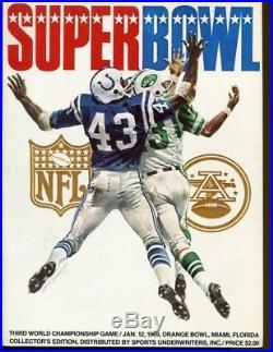 Super Bowl III Program Jets v Colts Orange Bowl 1/12/69 Ex/MT 43142