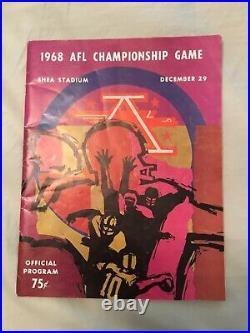 Super Bowl III and 1968 AFL Championship Programs