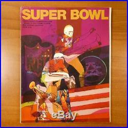 Super Bowl IV 1970 Program Vikings vs Chiefs