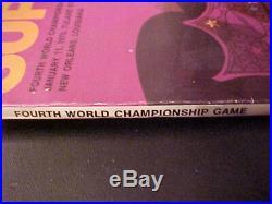 Super Bowl IV Championship Football Program 1-11-1970 Chiefs vs Vikings AFL NFL