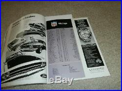 Super Bowl IV Program Minnesota Vikings/kansas City Chiefs 1/11/1970 Tulane Ex+