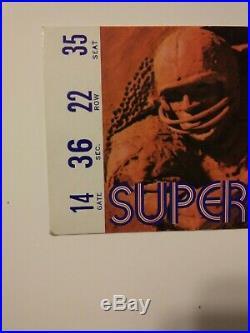 Super Bowl IV Tickets And Official Program Jan. 17 1971 Cowboys Vs Colts Rare