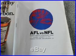 Super Bowl IV World Championship Game Program jan 11 1970 RARE NICE AFL VS NFL