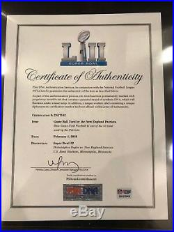 Super Bowl LII 52 Eagles vs. Patriots Game Used Football PSA/DNA Authenticated