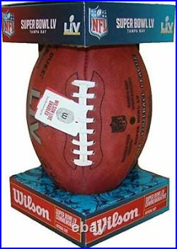 Super Bowl LV Official Wilson Game Football 2 Footballs 2 Game Programs