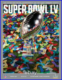 Super Bowl LV Wilson Leather Game Football And Stadium Game Program