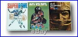 Super Bowl Program Complete Set (1-54) High End Set Very Nice
