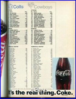 Super Bowl V 5 Program Colts v Cowboys 1/17/71 Orange Bowl Ex/MT Very Nice 56171