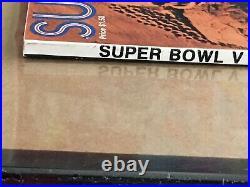 Super Bowl V Program 1971 Colts vs Dallas Cowboys Clean Top Copy Make Offer Now