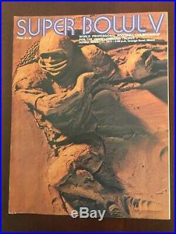 Super Bowl V Program Baltimore Colts vs Dallas Cowboys 1971 Football NFL