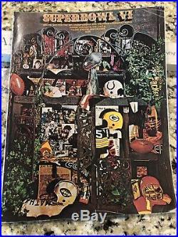 Super Bowl VI 1972 Vintage Program Dolphins v Cowboys Staubach MVP LOOK