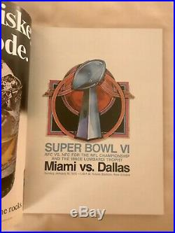 Super Bowl VI Program, 1972 Miami Dolphins vs Dallas Cowboys A+ Very Nice