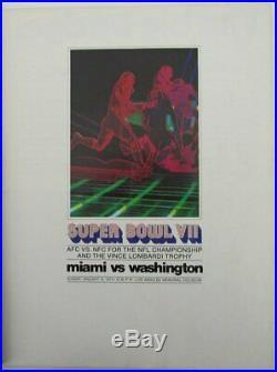 Super Bowl VII 1973 Vintage Program Dolphins v Redskins Jake Scott MVP 143876