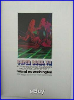 Super Bowl VII 1973 Vintage Program Dolphins v Redskins Jake Scott MVP 143877