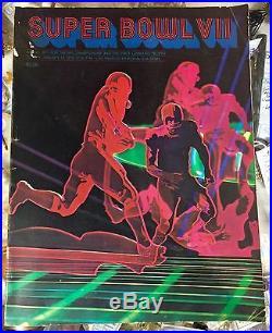Super Bowl VII Official Program Dolphins Perfect Season vs. Redskins
