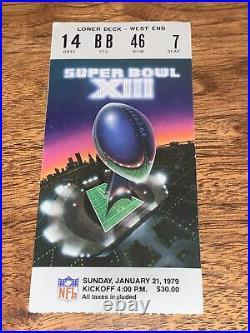 Super Bowl XIII Tickets x2 + Program Excellent-Near Mint Steelers Cowboys 1979