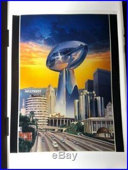 Super Bowl XIV Program Pittsburgh Steelers LA Rams Rose Bowl Transparency