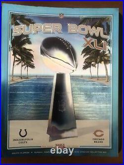 Super Bowl XLI Program Indianapolis Colts Chicago Bears stadium edition