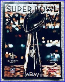 Super Bowl XLIV (44) Game Ticket + Lanyard + Game Program Great Condition Saints
