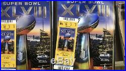 Super Bowl XLVIII 48 Ticket + Lanyard + Game Program Authentic Great Condition
