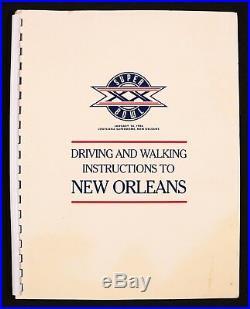 Super Bowl XX 1986 Bears vs. Patriots Driving & Walking Instructions New Orleans
