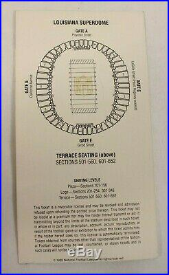 Super Bowl XX 20 New England Patriots Chicago Bears Football Program and Ticket