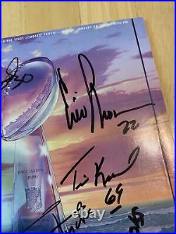 Super Bowl XXIII Game Program 1989 Cincinnati Bengals vs 49ers autographed By 9