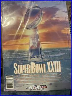 Super Bowl XXIII Program Bengals Vs. 49ers January 1989 Very Nice Condition/