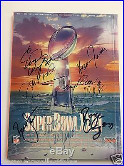 Super Bowl XXIII Program Signed x8 MONTANA RICE LOTT NFL Football JSA Authentic