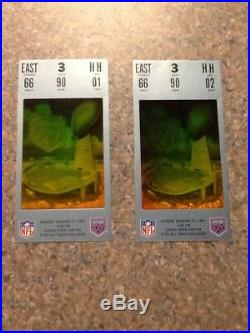 Super Bowl XXV SILVER ANNIVERSARY, Special Collector's Edition, Stubs, Program +