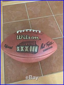 Super Bowl XXXIII official Wilson football Broncos v Falcons January 31, 1999