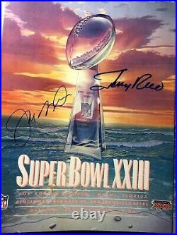 Super bowl XXIII autographed program Joe Montana and Jerry Rice