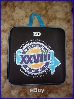 Super bowl XXVIII Dallas Cowboys Buffalo Bills Atlanta Complete Cushion Program