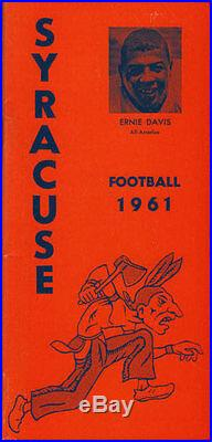 Syracuse Football RARE 1961 Media Guide Ernie Davis! Liberty Bowl program