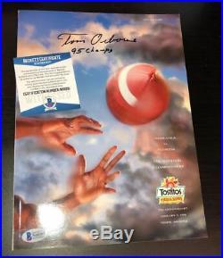 TOM OSBORNE SIGNED NEBRASKA 1996 Fiesta Bowl Program BECKETT WITNESS COA N68281