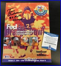 TOM OSBORNE SIGNED NEBRASKA 1998 Orange Bowl Program BECKETT WITNESS COA N68399