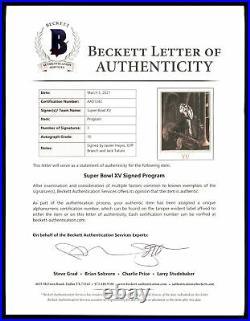 Tatum, Hayes & Branch Autographed Super Bowl XV Program Raiders Beckett AA01243