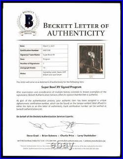 Tatum, Hayes & Branch Autographed Super Bowl XV Program Raiders Beckett AA01244