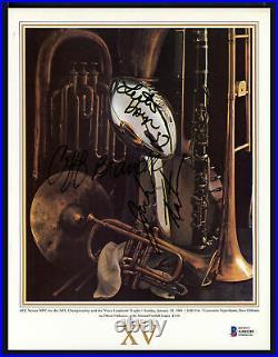 Tatum, Hayes & Branch Autographed Super Bowl XV Program Raiders Beckett AA01245