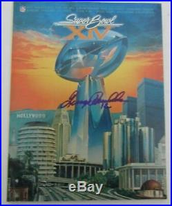 Terry Bradshaw Signed Super Bowl XIV Game Program MVP Steelers JSA 129538