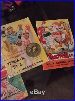 Texas A&M 1950s Official Programs. Cotton Bowl, Gator Bowl, Etc. 1955 & 1956