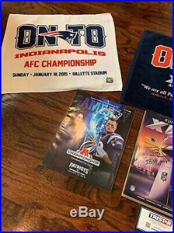 Tom Brady New England Patriots Signed Super Bowl XLIX Program TriStar Authentic