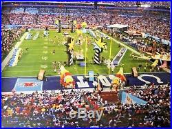 UNIQUE Very Rare ROMERO BRITTO 2007 Super bowl CATALOGUE Colts Indianapolis