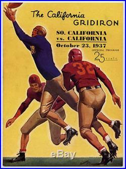 USC Trojans v California RARE 1937 Football Program vtg Cal Bears Rose Bowl