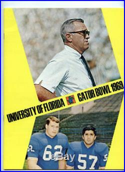 University of Florida RARE 1969 Gator Bowl Media Guide/Gators Football Program