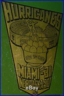 University of Miami Hurricanes Canes UM Football Director Orange Bowl award